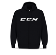 CCM Hockey Full Zip CVC Hoody Brinken Svart Sr + Jr